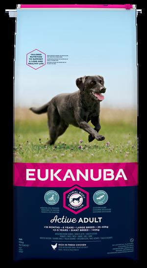 EUKANUBA ACTIVE ADULT LARGE 15 KG