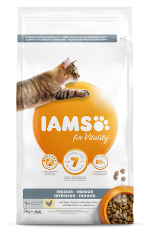 IAMS CAT ADULT INDOOR - 3 KG