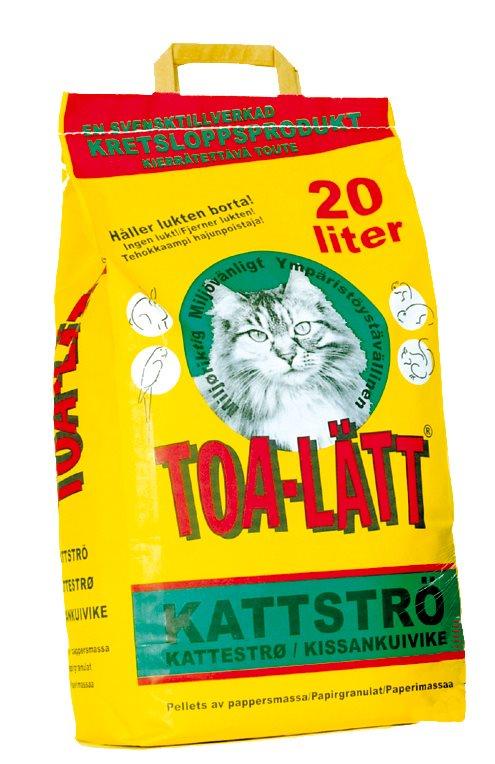 TOA-LÄTT KATTSTRÖ - 20 LITER