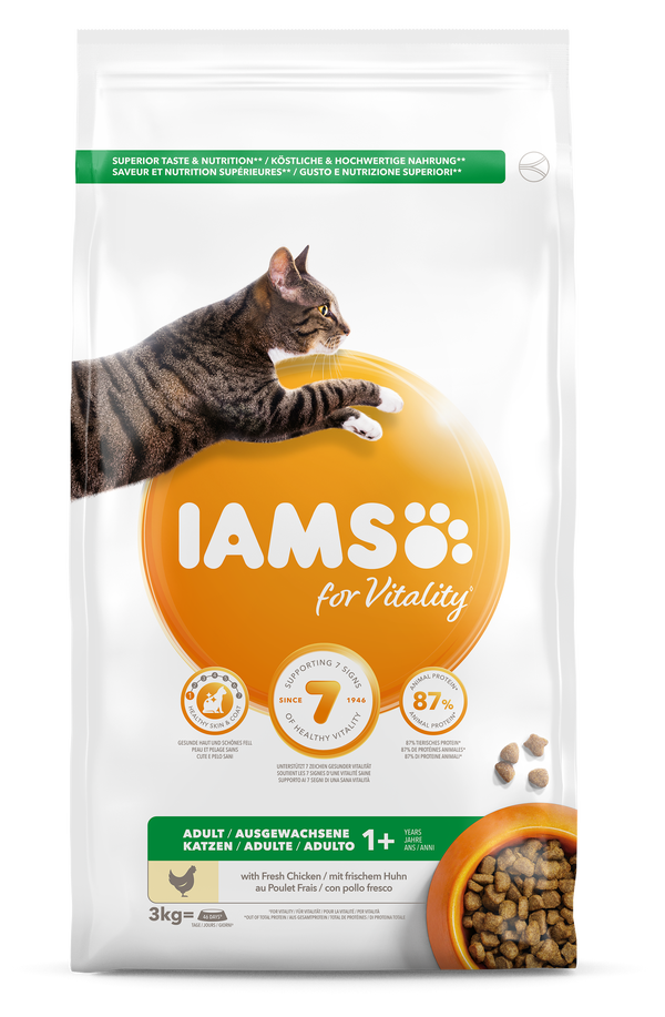 IAMS CAT ADULT CHICKEN - 3 KG