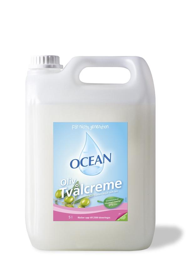 OCEAN TVÅLCREME MILD OLIV - 5 LITER