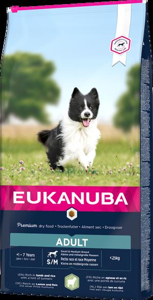 EUKANUBA ADULT LAMB & RICE SMALL & MEDIUM 12 KG