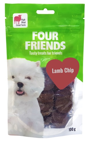 FOUR FRIENDS HUND LAMB CHIP 100 G