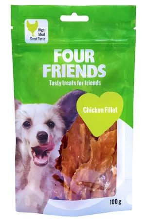 FOUR FRIENDS HUND CHICKEN FILLET 100 G