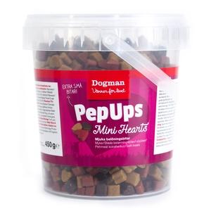 PEP UPS MINI HEARTS KYCKLING & VILT 450 G
