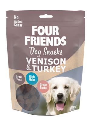 FOUR FRIENDS SNACKS VENISON & TURKEY 200 G