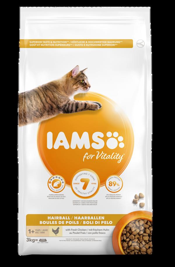 IAMS CAT ADULT HAIRBALL - 3 KG