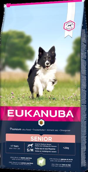 EUKANUBA SENIOR LAMB & RICE SMALL & MEDIUM 12 KG
